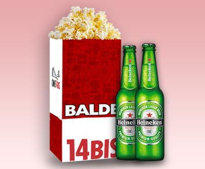 Balde + 2 Heineken